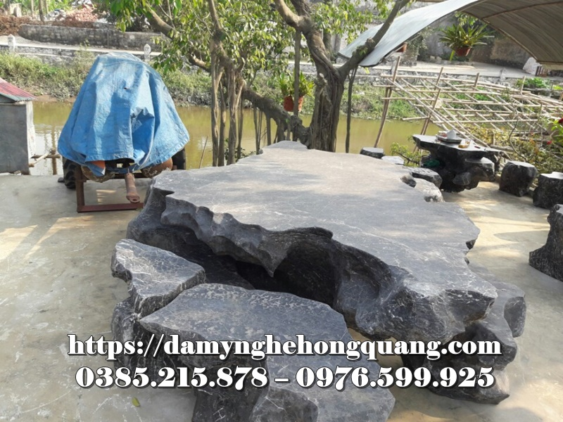 Mẫu bàn ghế đá sân vườn đẹp-2