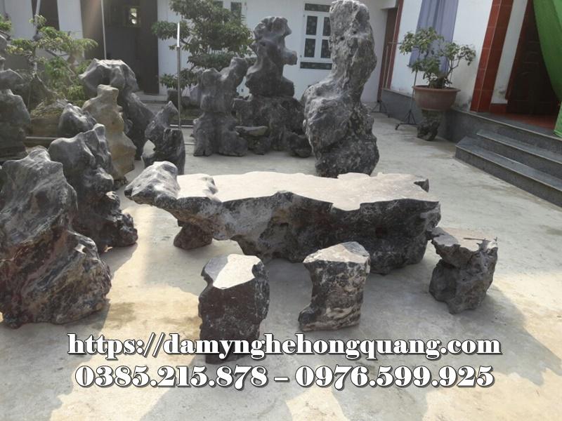 Mẫu bàn ghế đá sân vườn đẹp-3