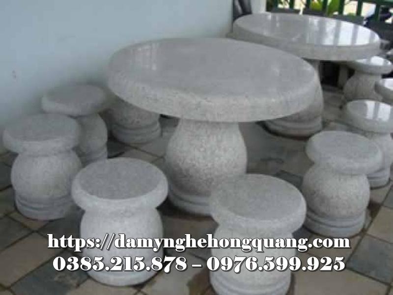 Mẫu bàn ghế đá sân vườn đẹp-6