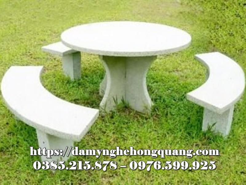 Mẫu bàn ghế đá sân vườn đẹp-8