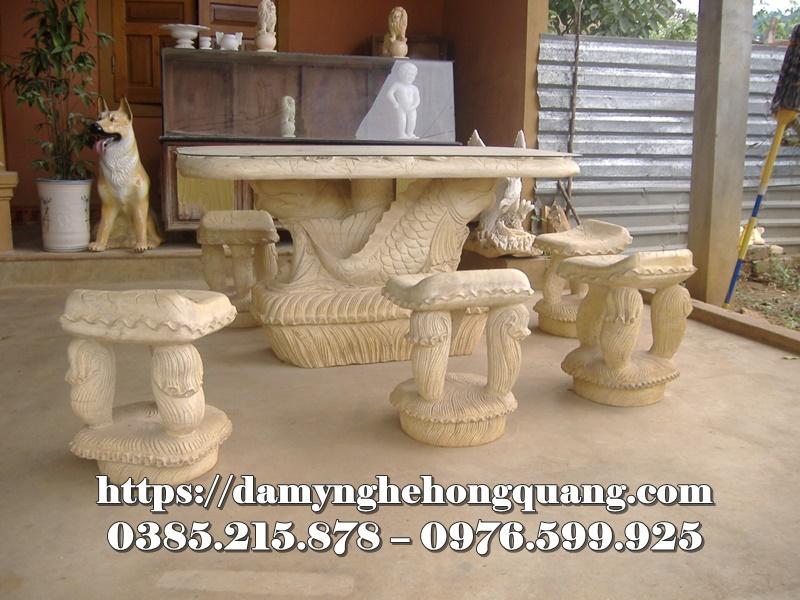 Mẫu bàn ghế đá sân vườn đẹp-10