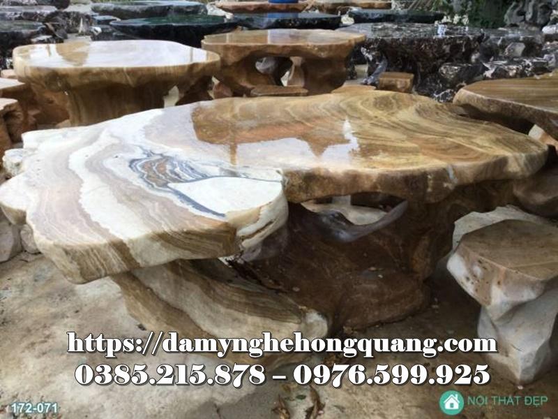 Mẫu bàn ghế đá sân vườn đẹp-11