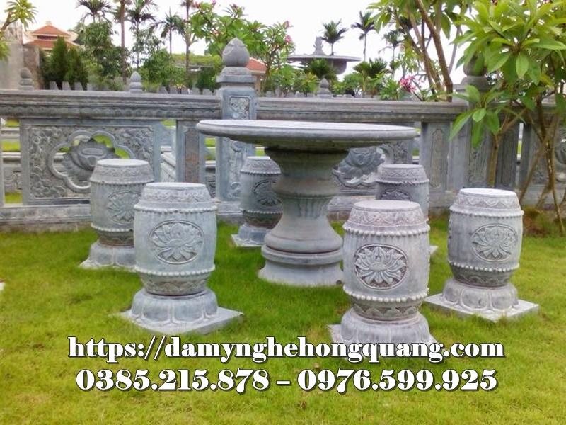 Mẫu bàn ghế đá sân vườn đẹp-14