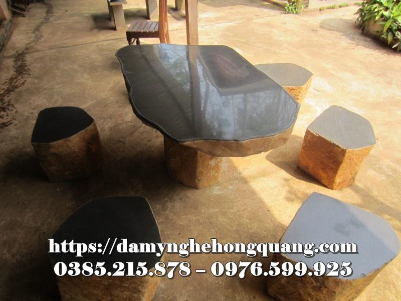 Mẫu bàn ghế đá sân vườn đẹp-16