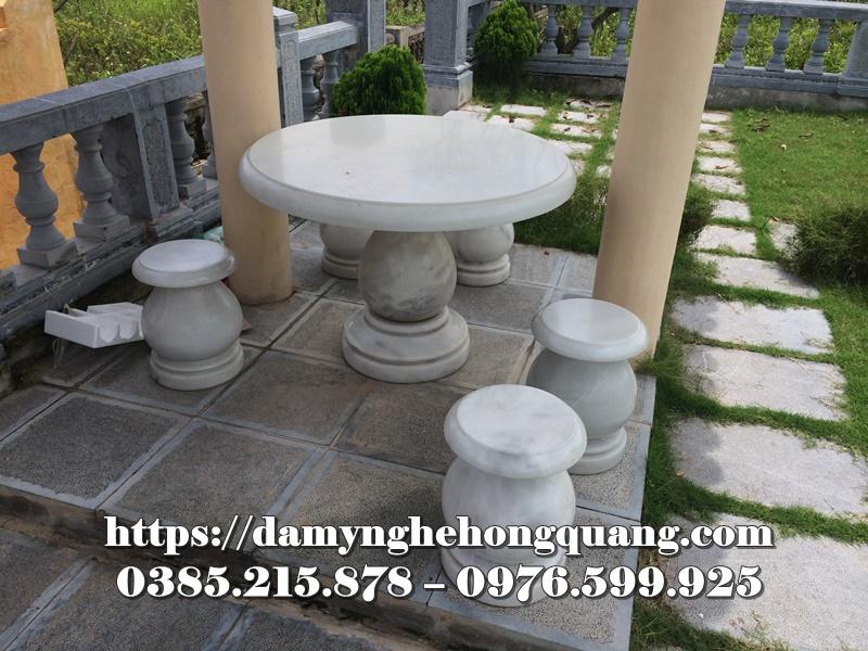 Mẫu bàn ghế đá sân vườn đẹp-18